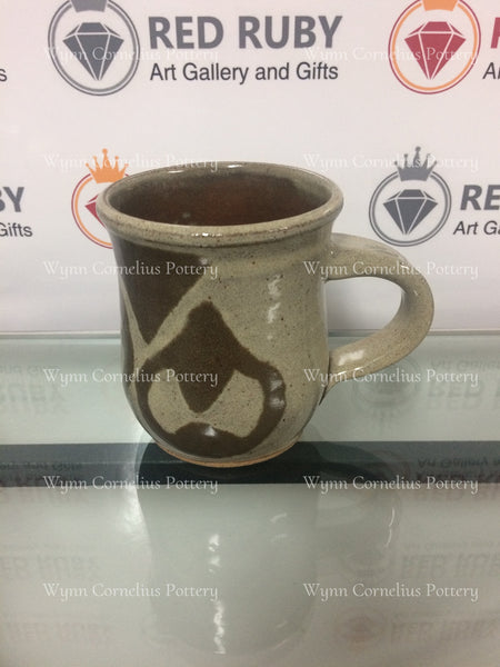 Large Brown Tan Tear Drop Mug