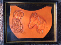 Mare & Foal Framed Leather