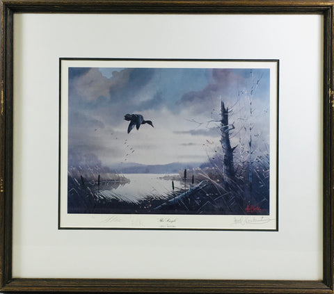 """The Single"" framed Preloved Art"