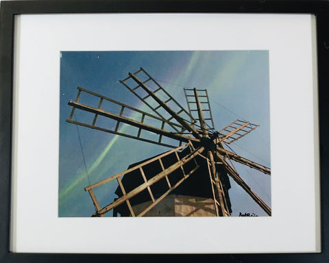 Windmill photo framed
