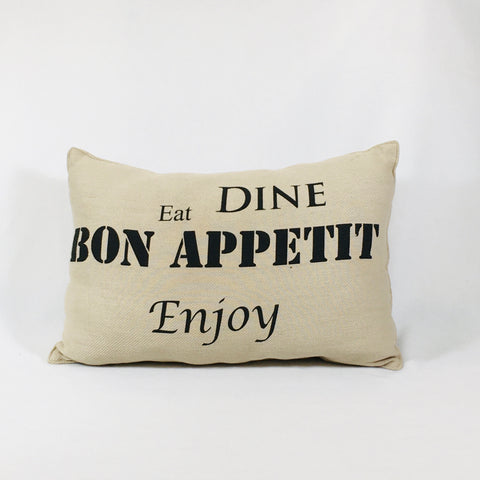 Eat Dine Enjoy Pillow