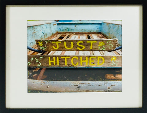 Just Hitched photo framed