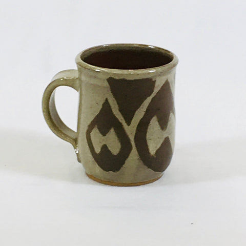 Large Tan Brown Tear Drop Mug