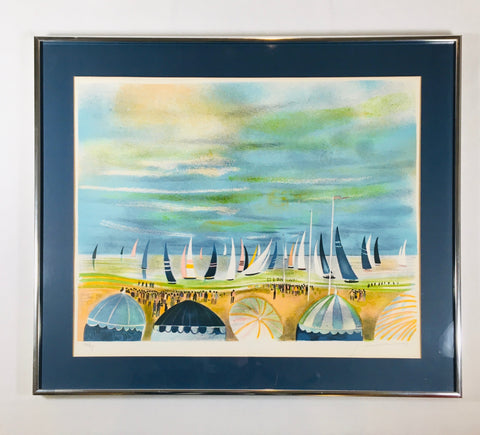 Preloved Art chrome framed sailboats