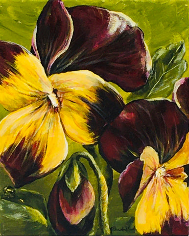 Pansies Acrylic Painting