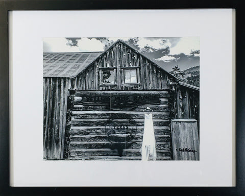Barn photo framed