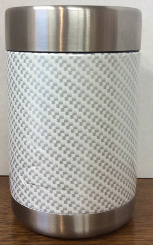 Ozark Trail custom hydrodipped can/sasparella cooler White Carbon Fiber
