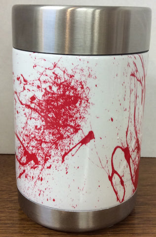 Ozark Trail custom hydrodipped can/sasparella cooler Red Splatter