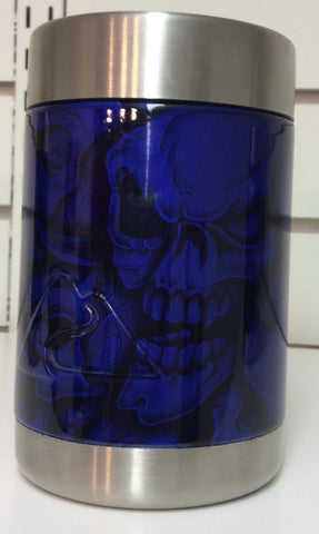 Ozark Trail custom hydrodipped can/sasparella cooler Cobalt Blue Skulls