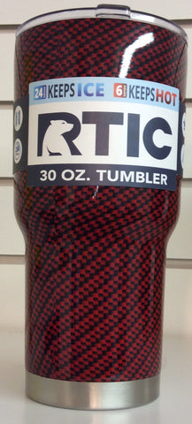 Ozark Trail custom hydrodipped Tumbler Red Carbon Fiber