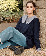 Cashmere Wool Blend Waterfall Sweater