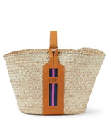 Grace Monogram Striped Basket