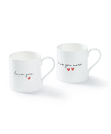 Love you/love you more mug