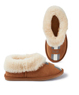 Monogram Womens Stripe Snug Sheepskin Slippers