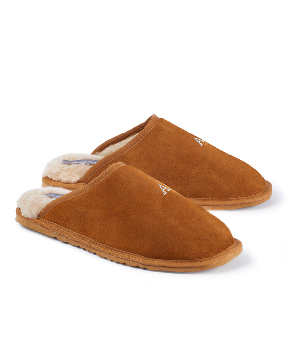 Monogram Mens Slip On Slippers