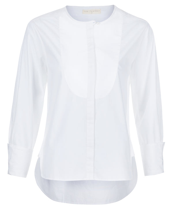 Oversized Bib Front Shirt