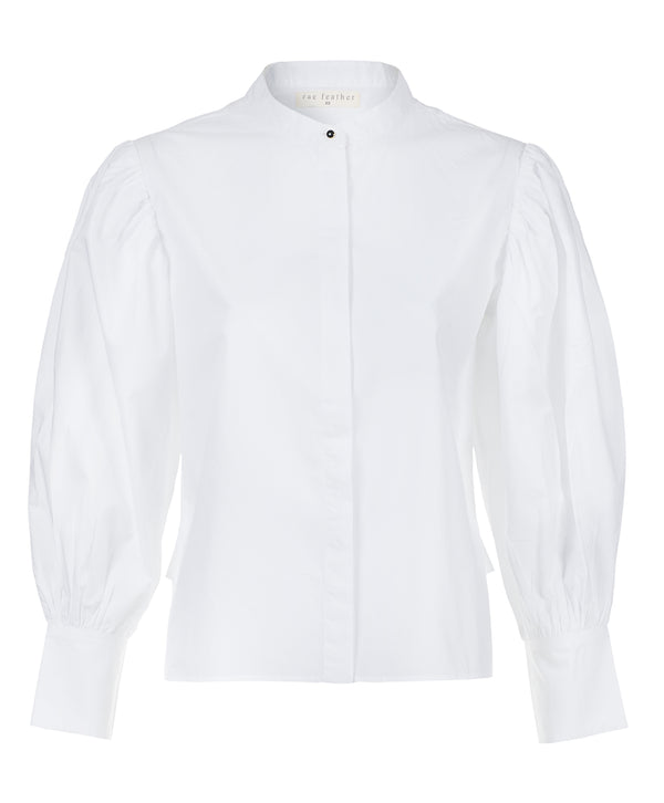 Puff Sleeve Cotton Poplin Shirt