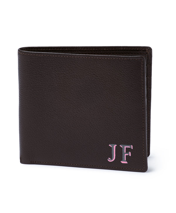 Espresso Leather Billfold Mens Wallet