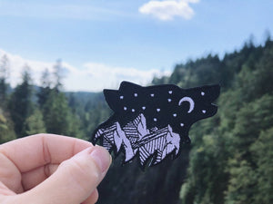 Starry Night Wolf Patch