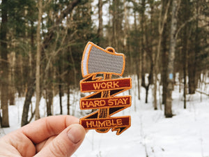 Work Hard Stay Humble Patch