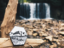 Load image into Gallery viewer, Hexagon Mountains Enamel Pin