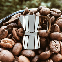 Load image into Gallery viewer, Moka Pot Espresso Enamel Pin