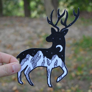 Night Sky Deer Patch
