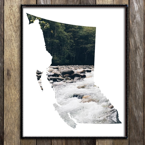 River in British Columbia Print