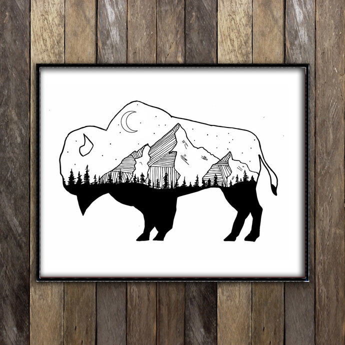 Night Sky in Buffalo    Print