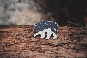 Starry Night Bear Pin