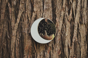 Forest Moon Enamel Pin