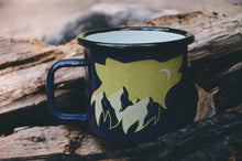Load image into Gallery viewer, Howling Wolf Enamel Camp Mug