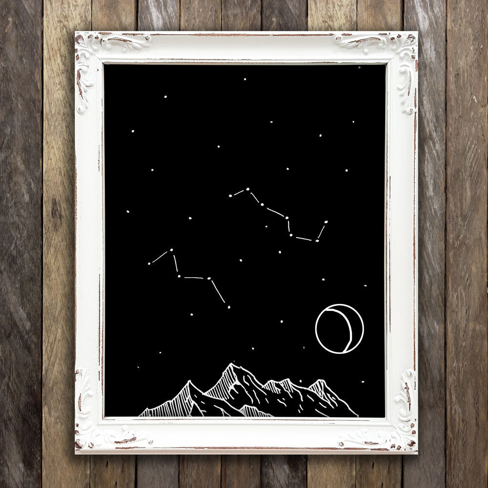 Night Sky Constellation Print