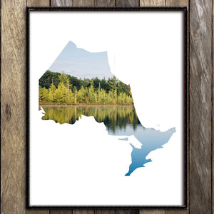 Cottage Country, Ontario Map Print