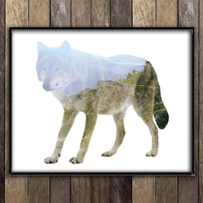 Forest Wolf Print