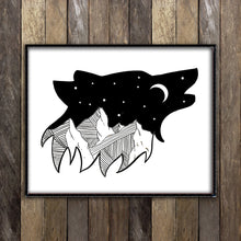 Load image into Gallery viewer, Night Sky in Wolf Print