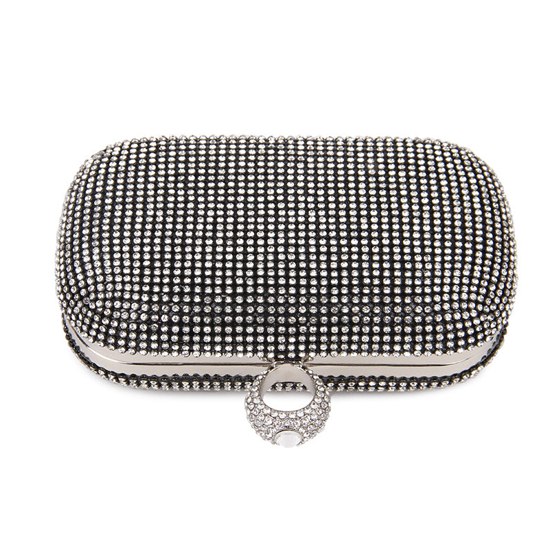 Rhea  Diamond-Studded Clutch