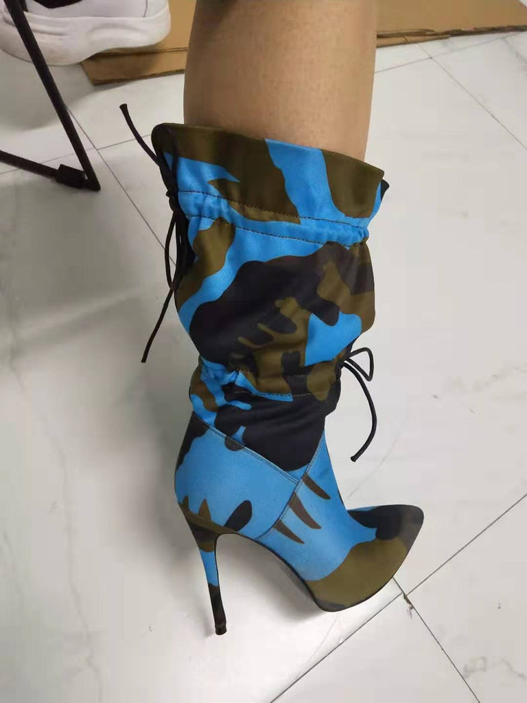 Rhea Camouflage Ankle Boot