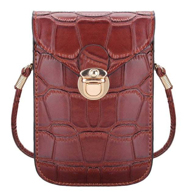 Rhea Crocodile Leather Handbag