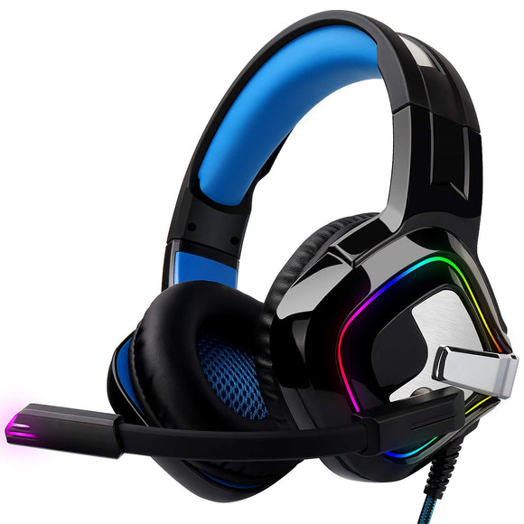 August EPG100L - 3,5mm RGB-LED Gaming Headset mit Fernbedienung für PC PS4/5 Xbox/Xbox One - Daffodil Germany GmbH
