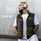 August EP650 - Bluetooth v4.2 NFC Kopfhörer mit aptX LL - Over-Ears mit individuellem Sound