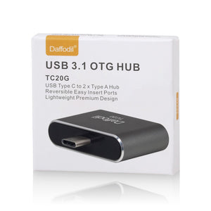 Daffodil TC20 - USB 3.1 OTG Adapter - Typ C zu 2x Typ A - On The Go Adapter