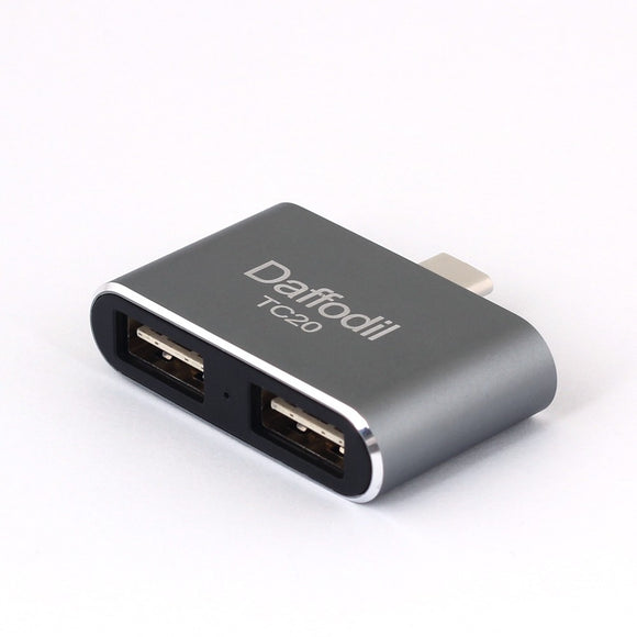 Daffodil TC20 - USB 3.1 OTG Adapter - Typ C zu 2x Typ A - On The Go Adapter - Daffodil Germany GmbH