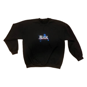 Riot Embroidered Crewneck