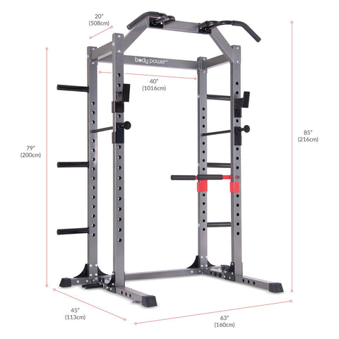 Body Power PBC5380 Deluxe Power Rack Cage System - body flex sports