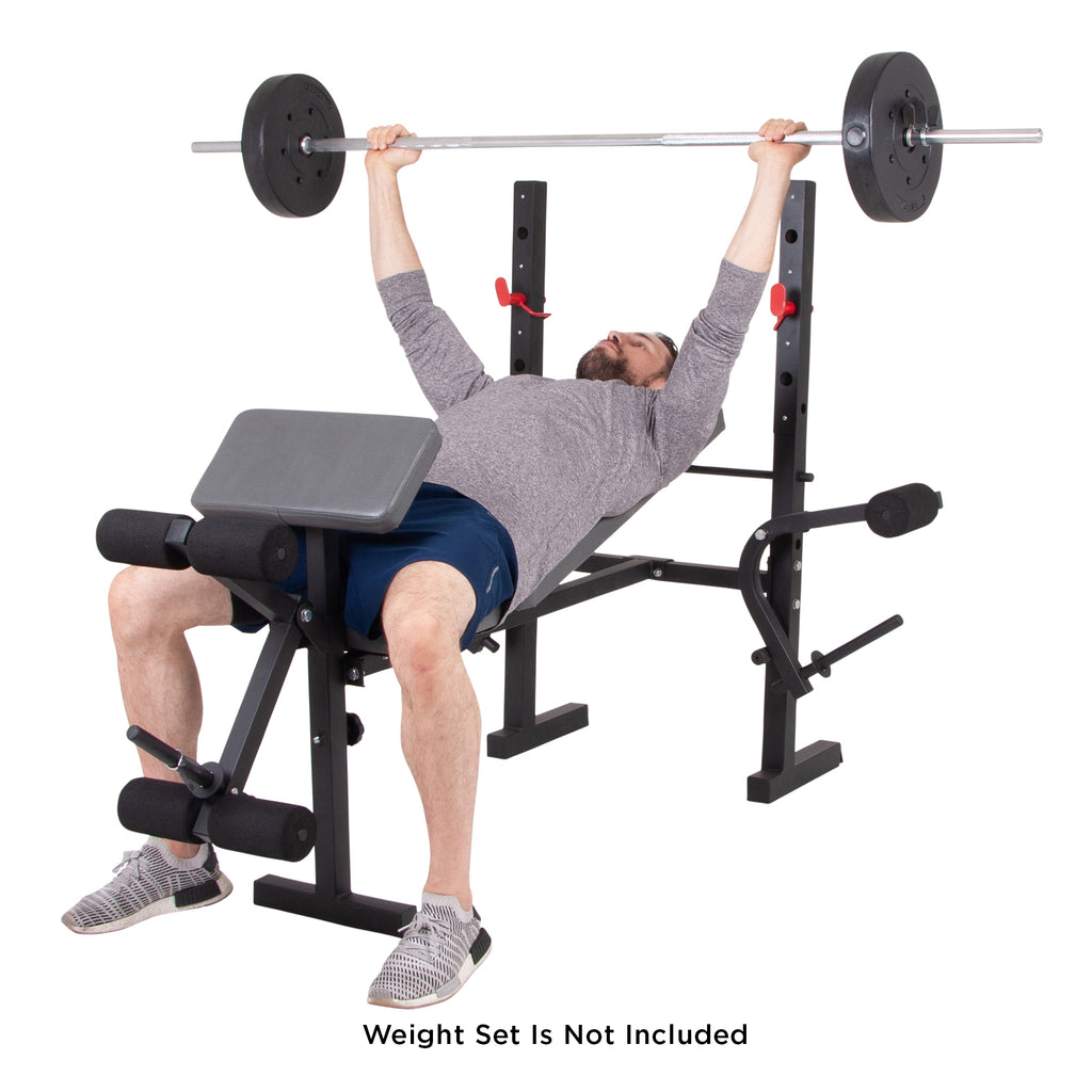 Body Champ Bcb580 Standard Weight Bench With Butterfly And