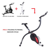 Body Rider Pro X Bike XRG5300 Folding Upright Exercise Bike Trainer - body flex sports