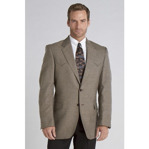 Circle S Men's Apparel - Plano Sportcoat - Donegal Brown - RR Western Wear, Circle S Men's Apparel - Plano Sportcoat - Donegal Brown