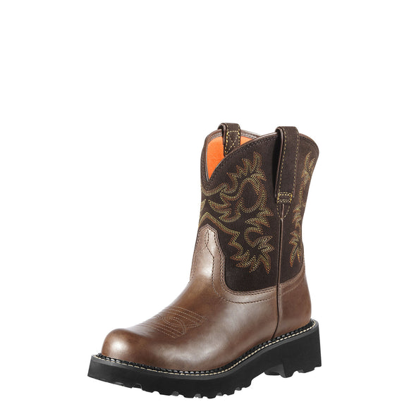 Ariat Womens Fatbaby Brown Rebel/Brownie Western Boots
