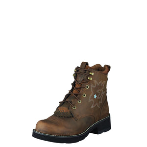 Ariat Womens Probaby Lacer Driftwood Brown Boots